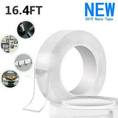 Double-sided Adhesive Nano Magic Tape 1/3/5m Gel Grip Washable Removable Tapes
