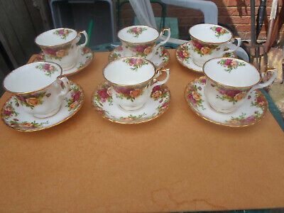 Royal Albert Old Country Roses Cups and Saucers x 6