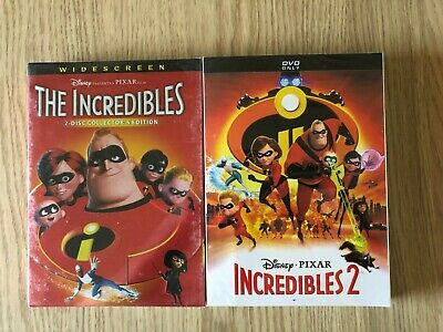 Incredibles 1 and 2 DVD 2-Movie Bundle Combo Brand New USA