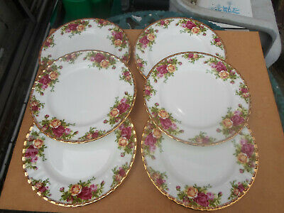Royal Albert Old Country Roses Large Side Plates x 6