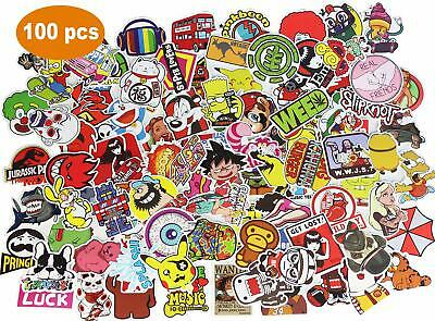 Vinyl Laptop Skateboard Stickers Luggage Decals Dope Car Bicycle Sticker 100 PCS