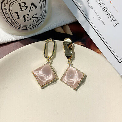 925 Silver Plating Stud Women Earrings Simple Earring Geometry Fashion Fresh