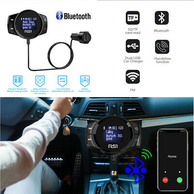 Handsfree Wireless Bluetooth Car Kit FM Transmitter LCD SD MP3 Dual USB Charger
