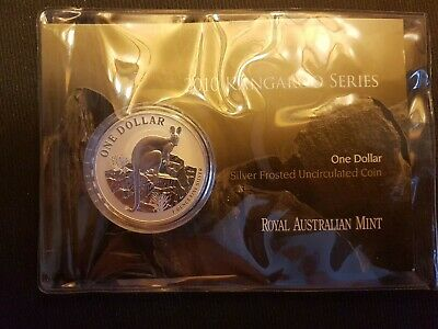 1 Dollar Silver Kangaroo 2010 31.1g .999 ST Silver Frosted in Blister