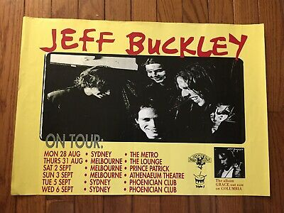 """RARE Poster: JEFF BUCKLEY """"Grace"""" Tour of Australia (1995) nice condition GREAT!"""