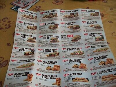 Coupons Canada--Over 150.00$ Of Savings On Burger King Meal Deals Wow!!!