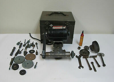 Precision Dumore 44-011 Tool Post Grinder W/ Case Motor & Spindle