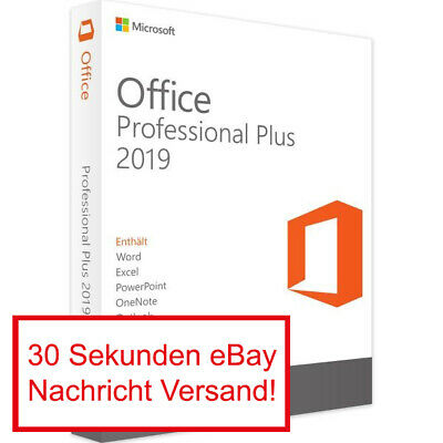 Microsoft Office 2019 Professional Plus Vollversion Software Lizenz Key E-Mail