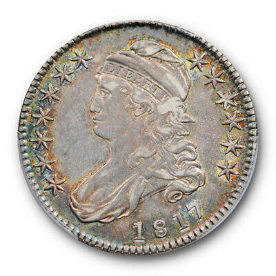 1817 50C Capped Bust Half Dollar PCGS AU 53 About Uncirculated Toned Beauty