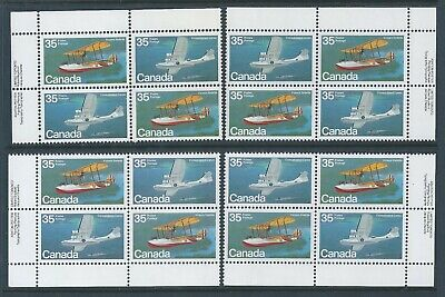 Canada #846a Aircraft - Flying Boats Matched Set Plate Block MNH