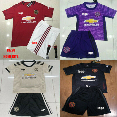 19-20 Soccer Suits Kits Training Shirts For Kids Boys 3-14Yrs