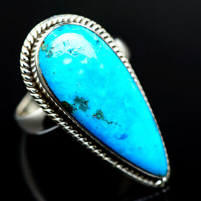 Large Arizona Turquoise 925 Sterling Silver Ring Size 8.25 Jewelry R962143F