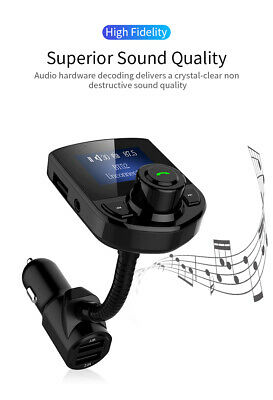 Wireless Bluetooth LCD in Car MP3 FM Transmitter AUX USB Disk Charger Handsfree