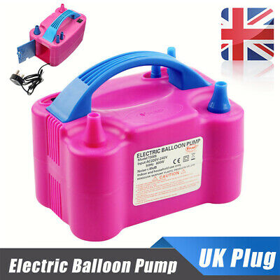 600W Portable Electric Balloon Pump Dual Nozzle Party Air Inflator Blower Hot UK