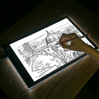 A4 LED Drawing Board Light Box Tracing USB Art Pad Table Copy Lightbox Artist AU