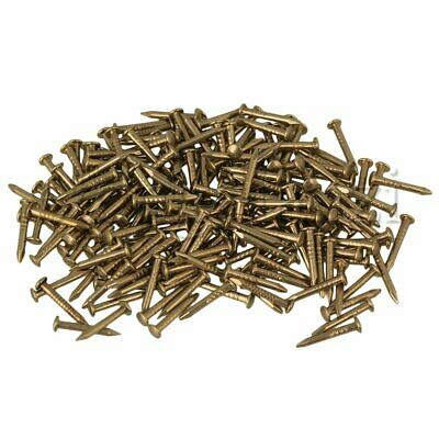 100x Antique Brass Round Head Copper Nail Studs for Furniture Hinge 2.5x10mm