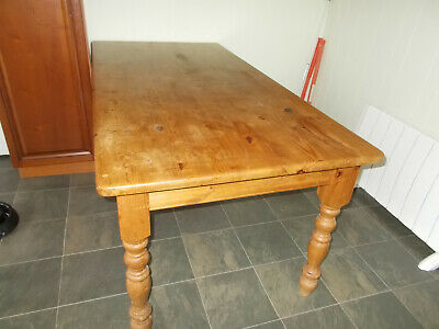6ft Solid Pine Antique Farmhouse Kitchen Dining Table