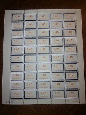 France Feuille Complete 50 Timbres Fictifs F206 Neufs**. Cote 50 Euros
