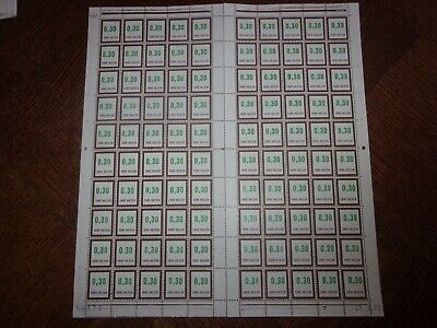 France Feuille Complete 100 Timbres Fictifs F194 Neufs**. Cote 100 Euros