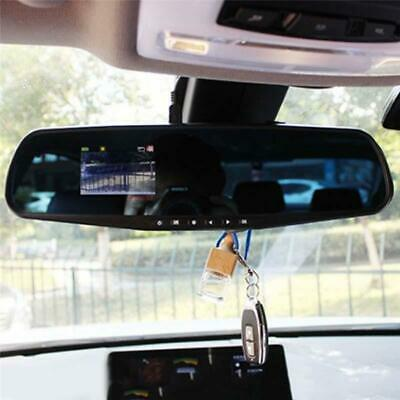 4.3'' HD Dual Lens Car DVR Dash Cam Front & Rear Mirror Video Recorder Camera