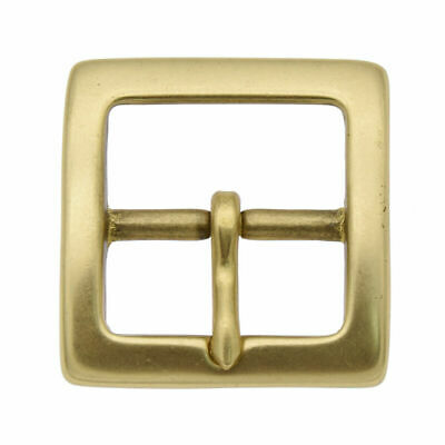 Vintage Square Brass Belt Buckle Plain Frame Western Cowboy Mens Jewelry