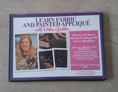 LEARN FABRIC AND PAINTED APPLIQUE with HELEN GODDEN DVD ~ NEW