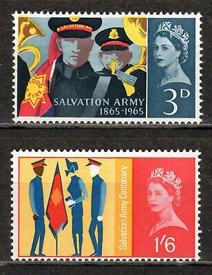 Great Britain - 1965 Salvation Army centenary -  Mi. 388-89x MNH