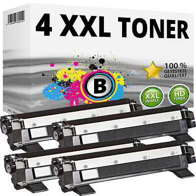 4x XXL Toner Compatibile Brother TN1050 DCP1510 DCP1512 DCP1610W DCP1612 HL-1110