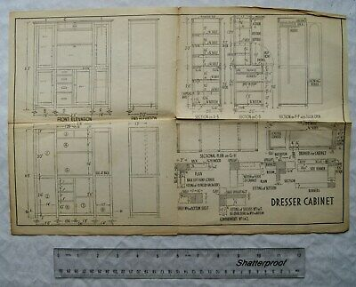 Vintage: Six sheets of Working Drawings (see description for list of contents)