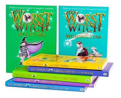 Worst Witch 7 Books Children Collection Paperback New Gift Pack By Jill Murphy