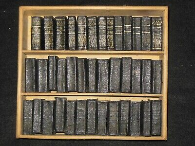 The Miniature Shakespeare c1930s: 40 Volumes, Complete, Inc Case, Leather Bound