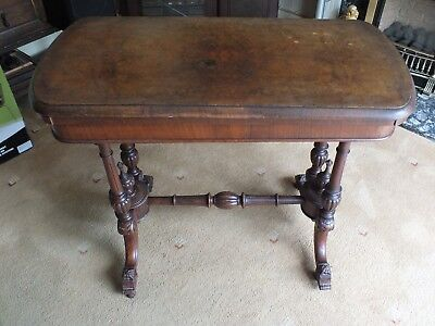 Antique Victorian Walnut Card/Games Table.