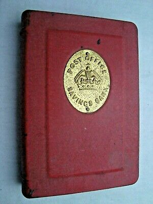 England Post Office Savings Bank antique book shape coin bank Taylor Law & Co.