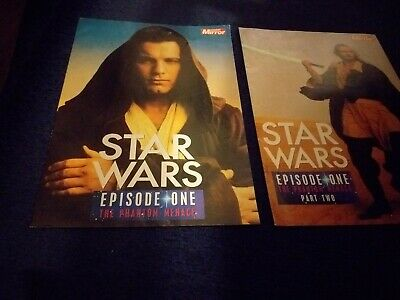 Star wars The phantom Menance collectable booklets Sunday Mirror special 2 PARTS