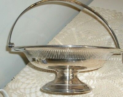 VINTAGE MAPPIN & WEBB SILVER PLATED BOWL  WITH A HANDLE Base Letter F in Shield