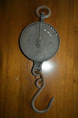 Antique Vintage Brass Face & Cast Iron Salter No20 Spring Scales