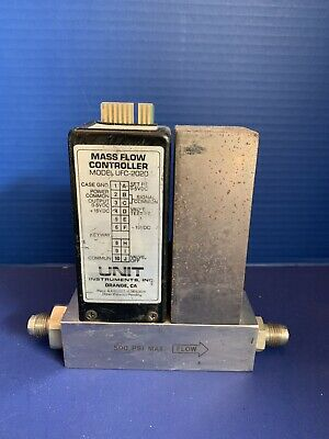 "Unit UFC-2020A Mass Flow Controller, N2, 30 SLM, 1/4"" MVCR, Used"
