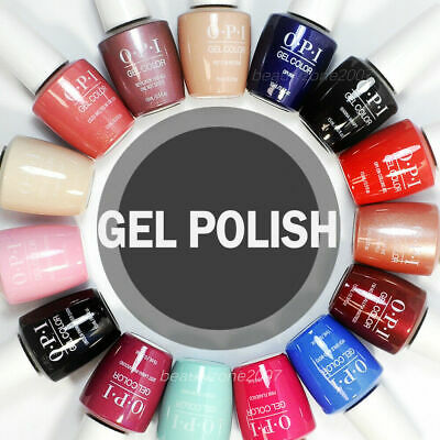15ML OPI GelColor UV/LED Soak Off Base Top Gel Polish Nail Varnish Art Pick any