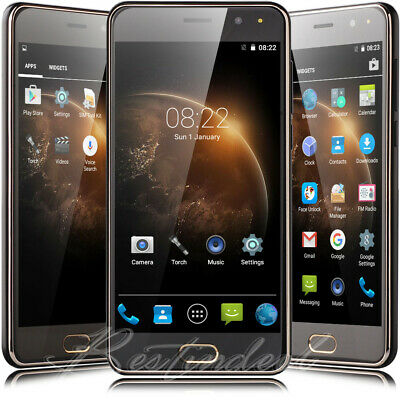 New 5 Inch Unlocked Cell Phone Android 7.0 Quad Core Dual SIM 3G AT&T Smartphone