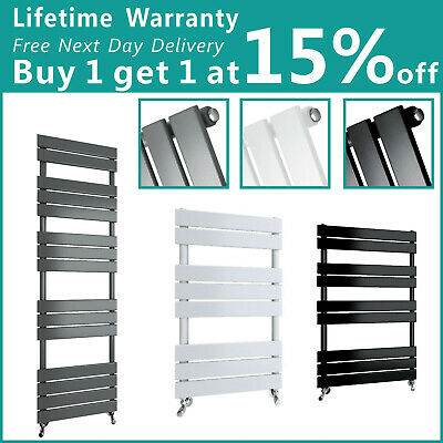 Flat Panel Designer Bathroom Heated Towel Rail Radiator Anthracite Black White