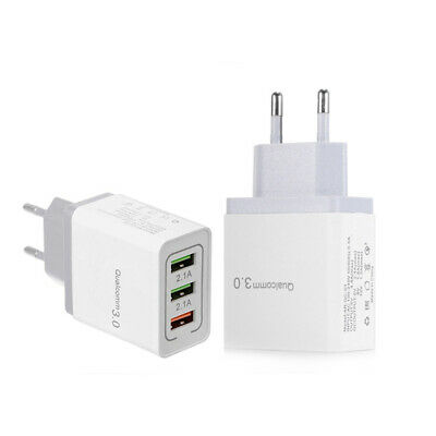 QC 3.0 3Port Fast Quick Charge 3.0 USB Hub Wall Charger Adapter For Travel