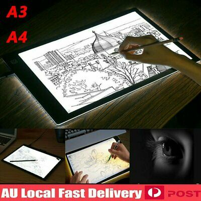 Magnetic A3 A4 LED Light Box Tracing Drawing Board Art Design Pad Copy Lightbox