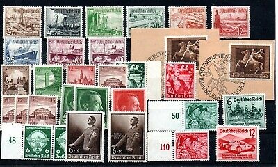 THIRD REICH , 1937 / 1938 / 1939 , NICE lot better stamps and sets , MNH / USED