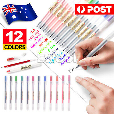 12 Colors/Set School Gel Pens 0.5mm Ink Pen Style Office Supply Maker