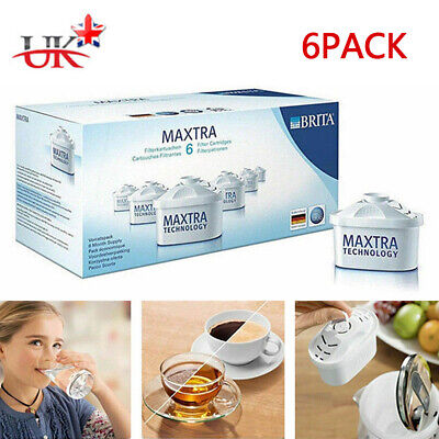 6 Package Brita Maxtra Water Filter Jug Refills Genuine Replacement Cartridge UK