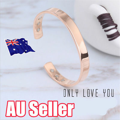 Magnetic Copper Bracelet Healing Bio Therapy Arthritis Pain Relief Bangle New L3