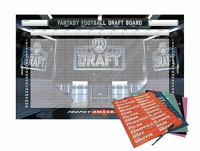 Football Draft Board Kit 12 10 and 8 Team Custom Design - 500+ Player and Smack