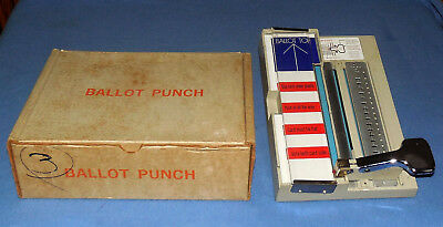 Vintage Voting Ballot Punch Machine