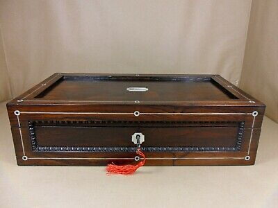 ANTIQUE GEORGE III (REGENCY) ROSEWOOD WRITING SLOPE / BOX. C1815-1820 (Code 518)