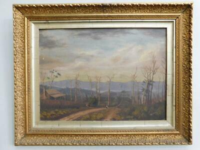 Large Australian Colonial Landscape in Superb Gilt Frame HC Lloyd c1900